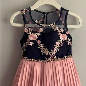 Rare Editions Dresses - Toddler Girls Rare Editions Navy Pink Floral Dress